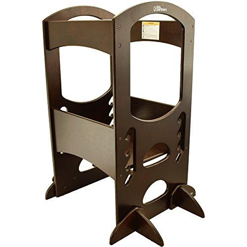 little partners learning tower kids step stool adjustable kitchen counter step up helper. Black Bedroom Furniture Sets. Home Design Ideas