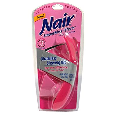 Nair Hair Remover In-shower Hair Remover Cream Bladeless Shaving Kit Tropical Fusion