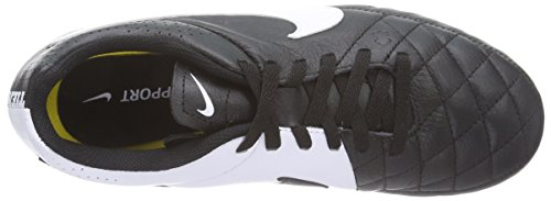 Football Black Black Boots Nike White Kids' Unisex Tiempo Leather Firm Genio Ground w80Hnqz78