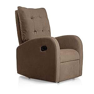 SUENOSZZZ-ESPECIALISTAS DEL DESCANSO Sillon Relax reclinable Soft tapizado Tela Antimanchas Color Marron | Sillon reclinable butaca Relax | Sillon ...