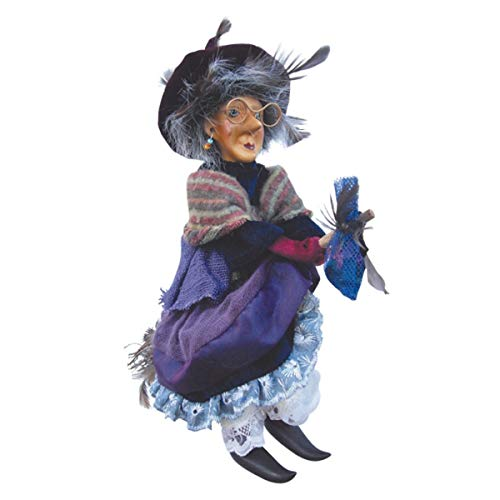 Witches of Pendle - Althea Witch Flying (Purple) 24cm (Kitchen Witch Hanging)