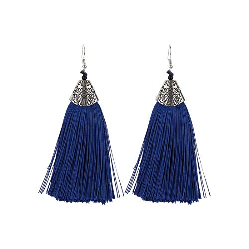 IDB Vintage Fashion Bohemian Tassel Drop Hook Earrings with an Approx 3 3/16