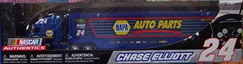 2017 Edition Chase Elliott #24 NASCAR Authentics NAPA Hauler Trailer Rig Semi Truck Trailer Tractor Cab....Cab is diecast metal....trailer is plastic ()