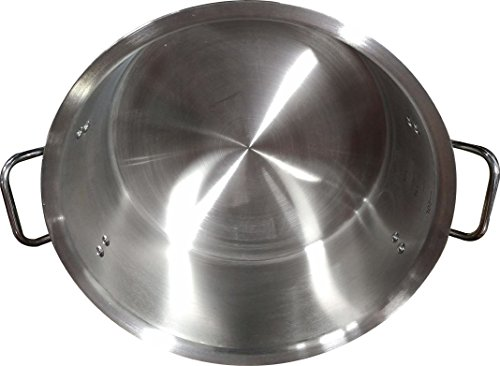 Bioexcel Heavy Duty Stainless steel Stock Pot with Lid, Easy Grip Handles - Choose your size from 16'' to 26'' - This one is Diameter 16''/Depth 7'' by Bioexcel