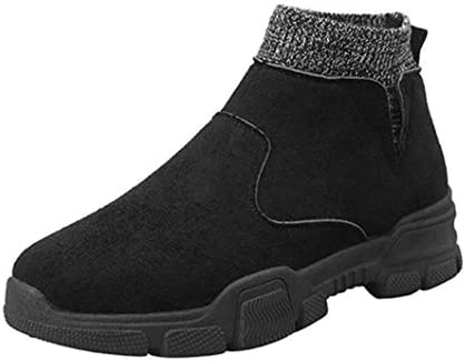 ブーツ メンズ ブラック 厚底 韓国風 レースアップシューズ 防滑 マーティンブーツ 冬用 男性用 ワークブーツ 作業靴 ショートブーツ 安全靴 暖かい 綿靴 雪靴 アウトドア ビジネスシューズ 紳士靴 スニーカー