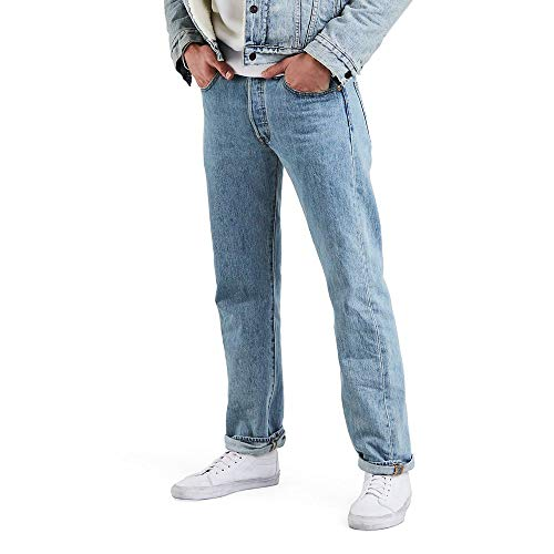 Levi's Men's 501 Original Fit Jean Light Stonewash 30W x 29L
