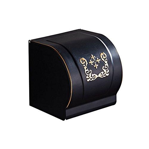 - Shelfhx Elegant Luxury Black Toilet Paper Roll Holder Bathroom Paper Towel Dispenser Tissue Hanger Paper Box