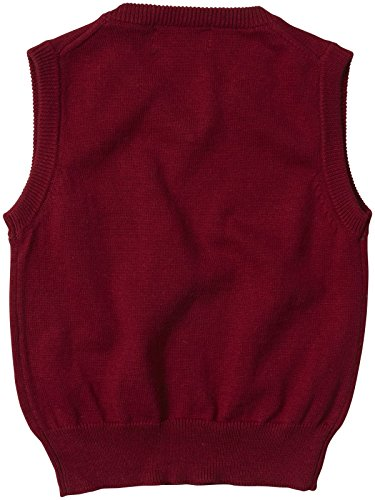 Andy & Evan Baby-Boys Newborn Xmas Red Sweater Vest, Red, 3-6 Months