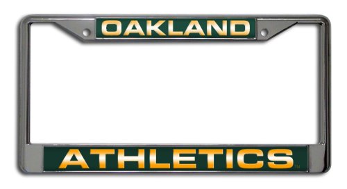 MLB Oakland Athletics Laser-Cut Chrome Auto License Plate ()