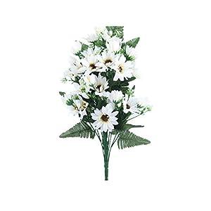 27 Heads/Bouquet Small Aster Artificial Flower Silk Flowers Daisy Fake Flower DIY Wedding Garden Decoration,White 31