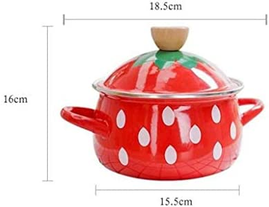 Pot, poêle Anti-adhésive émail, cuisinière à gaz en Pot de Cuisson Universel Domestique