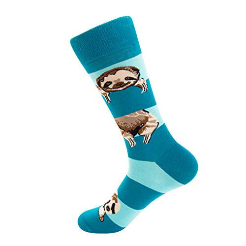 - Houshelp Unisex Cotton pattern socks personality fashion mid tube tide cute animal sport casual Colorful Socks
