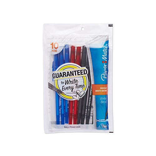 paper-mate-write-bros-ballpoint-pens-medium-point-10mm-assorted-colors-10-count