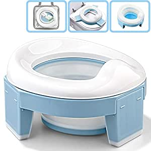 portable infant chamber pots toilet baby travel plastic toilet seat kids travel folding chair training potty ring with urine bag 1 PCs Best Quality by Rocco Potties