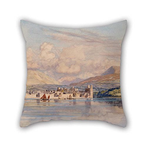 20 X 20 Inches / 50 By 50 Cm Oil Painting John Brett - Caernarvon Pillow Covers Twin Sides Is Fit For Living Room Divan Lounge Girls Wedding Office (Wicker Brett)