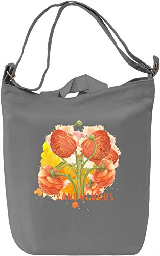 Ranunculus Borsa Giornaliera Canvas Canvas Day Bag| 100% Premium Cotton Canvas| DTG Printing|
