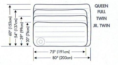 Intex 66950 - Colchón hinchable 76 x 191 x 22 cm bomba de pie integrada: Partner Jouet - A1100429 - Jeu de Plein Air - Matelas Gonflable et Pompe - 1 Place -