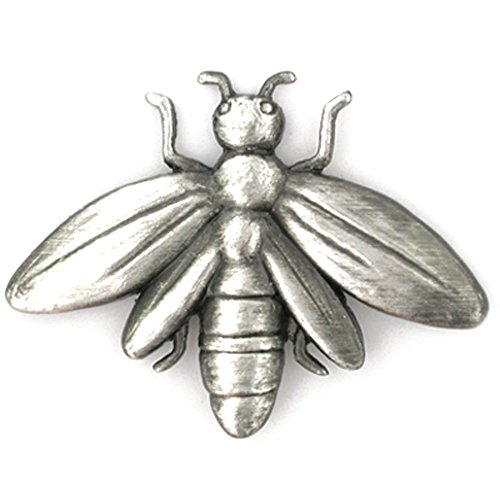 PinMart's Antique Silver Bee Insect Animal Lapel Pin by PinMart