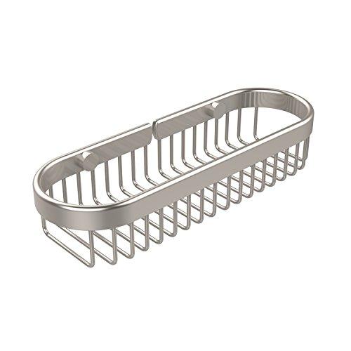 Allied Brass BSK-200LA-SN Oval Toiletry Wire Basket Satin Nickel