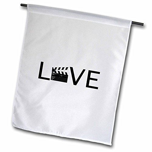 3d Rose 3dRose fl_180481_1 Love with Movie Clapper for O-...