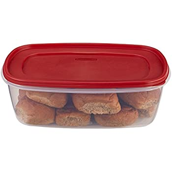 Rubbermaid Easy Find Lids Food Storage Container, BPA-free Plastic, 2.5 Gal/40 Cup, Red (1777164))