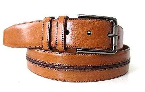 Mezlan Men's Vaqueta Leather Belt (38, Cognac)