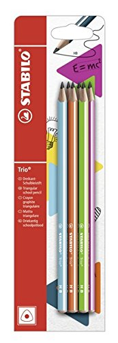 Stabilo Trio Matita in Grafite HB Colori Assortiti - Blister da 6 B-50017-10