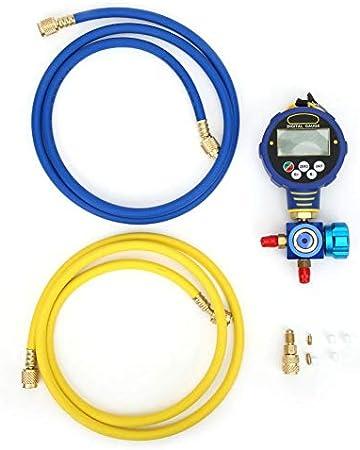 Aramox Precisión ± 0.5% US NST Medidor de vacío Digital estándar, medidor de refrigeración, Baja presión para Uso Industrial