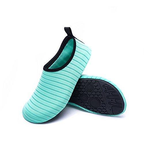 Natación Playa Agua Calzado Unisex de de Soles C Zapatos Zapatos Respirable Rápido Piscina de Agua LK LEKUNI Color de green de Secado H0qFHYT