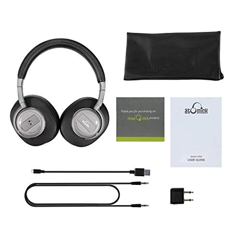2162b5fe8db Active Noise Cancelling Headphones Bluetooth Headphones with Built-in Mic  Wireless Headphones Over Ear,