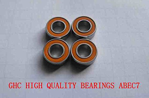 (Huscus 4PCS 10x19x5 Stainless Steel Hybrid Ceramic Ball Bearing 10X19X5mm S61800 2RS CB / S6800 2RS CB)