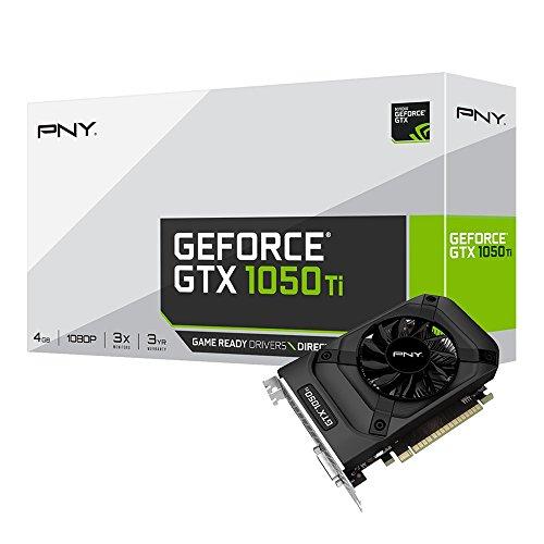 PNY NVIDIA GeForce GTX 1050 Ti 4GB GDDR5 PCI Express 3.0 Graphics Card Black VCGGTX1050T4PB