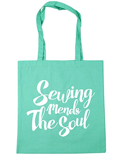 Soul Gym 10 The litres Mint 42cm Bag Tote Shopping Beach Mends Sewing HippoWarehouse x38cm qtaYY