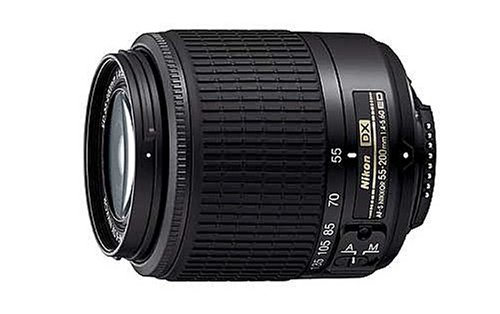Nikon 55-200mm f4-5.6G ED Auto Focus-S DX Nikkor Zoom Lens - White Box (New) (D3100 Nikon Camera)