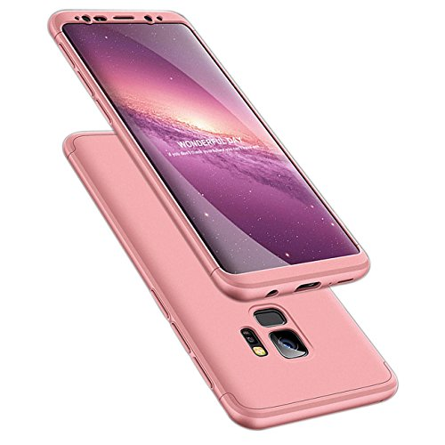 ATRAING Galaxy S9 Case, 3 in 1 Ultra-Thin PC Hard Case Cover for Samsung Galaxy S9 (Rose Gold)