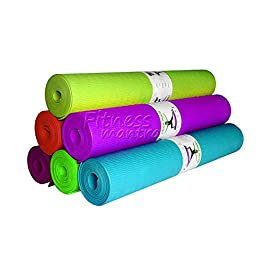 Fitness Mantra® Health & Fitness 4 mm Yoga mat [Multicolor][1Pcs.][Yoga is for Posers]