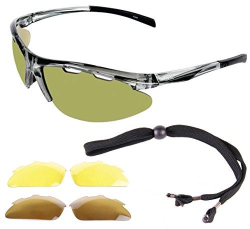 005ffbd50417 Rapid Eyewear Fore Lightweight TR90 GOLF SUNGLASSES for Men   Women With  Interchangeable Lenses inc.