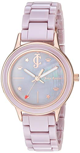 Juicy Couture Black Label Women's  Rose Gold-Tone and Taupe Ceramic Bracelet Watch