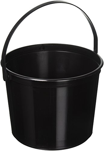 Amscan Plastic Bucket   Black   Party Accessory   12 Ct.