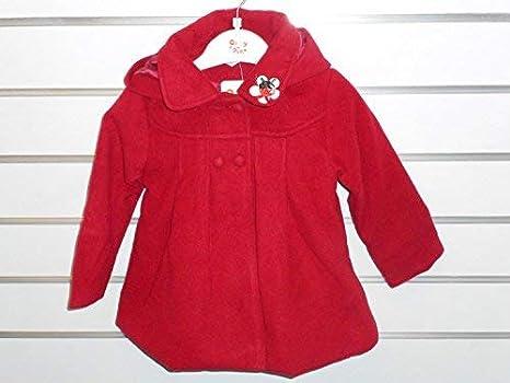 Para bebés de las niñas negro y rojo abrigo de invierno para muñeca de la chaqueta de rojo rosso Talla:1 Year: Amazon.es: Bebé