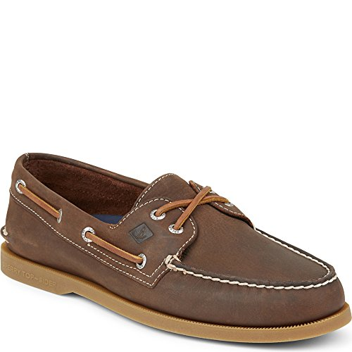 Sperry Top-Sider Men's a/O 2-Eye Boat Shoe, Brown, 9.5 M US