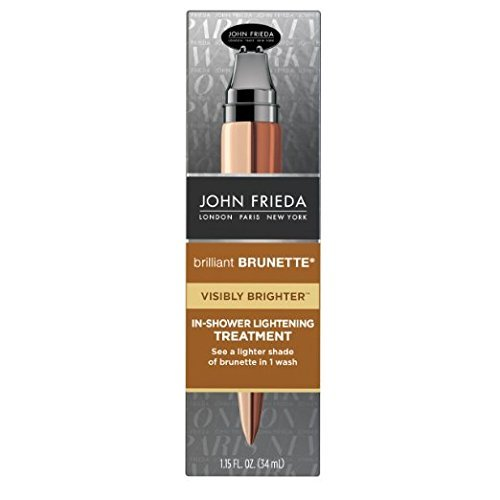 John Frieda Brilliant Brunette Visibly Brighter in Shower Lightening Treatment, 1.15 Fl Oz