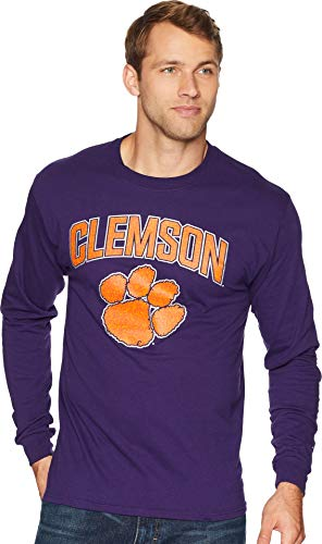 College Long Sleeve Tee - Champion College Men's Clemson Tigers Long Sleeve Jersey Tee Champion Purple Medium