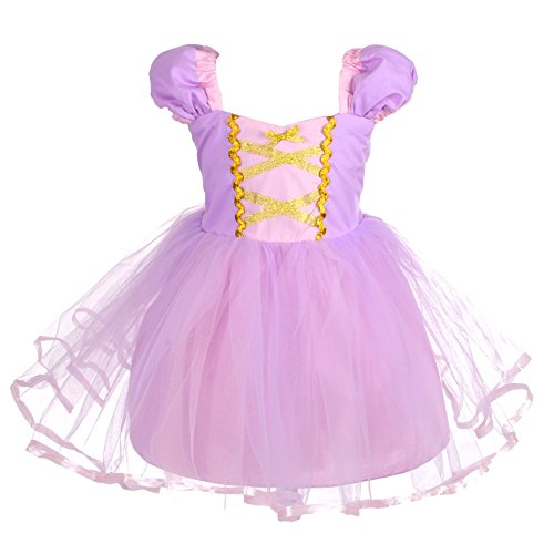 Dressy Daisy Baby Girls Princess Rapunzel Dress Costumes for Baby Girls Halloween Fancy Party Dress Size 12-18 Months]()