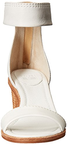 FRYE Womens Brielle Back-Zip Dress Sandal White-72158 jBOiB