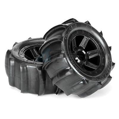 ProLine 1010110 Sling Shot 2.2 Sand Tires Mounted On Desperado Wheels: Toys & Games