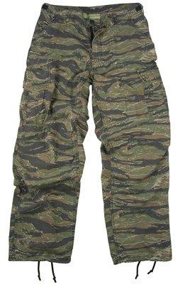 Vintage Vietnam Era 6 Pocket Fatigue Pants, Tiger Stripe, Small