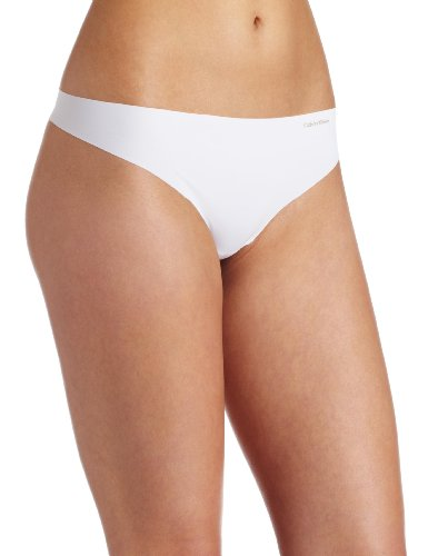 Calvin Klein Women's Invisibles Thong Panty, White, - Kylie Jenner 2011