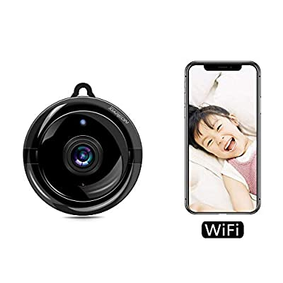 JOAREON HD 1080P Home Smart Mini WiFi Remote Control Security Monitoring Wireless Indoor Camera Motion Detection Alarm, Two-Way Audio & Night Vision Baby/Nanny/Elder Monitor, Support iOS/Android