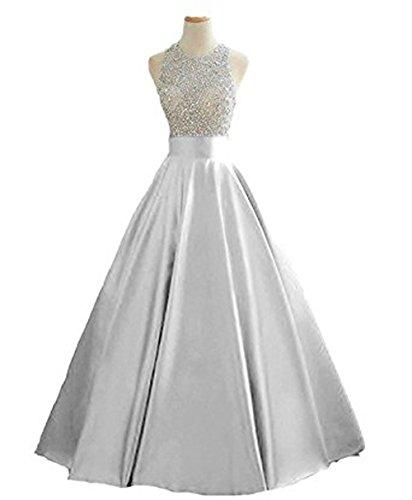 Vickyben - Vestido - para mujer plata